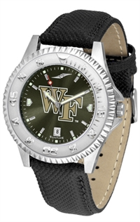 Wake Forest Demon Deacons Competitor AnoChrome Watch, Poly/Leather Band