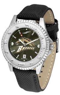 Western Michigan Broncos Competitor AnoChrome Watch, Poly/Leather Band