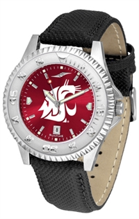 Washington State Cougars Competitor AnoChrome Watch, Poly/Leather Band