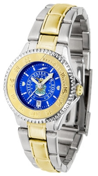 United States Air Force Competitor Anochrome Dial Two Tone Band Watch - Ladies