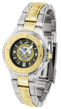 United States Army Competitor Anochrome Dial Two Tone Band Watch - Ladies
