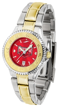 Arkansas Razorbacks Competitor Anochrome Dial Two Tone Band Watch - Ladies