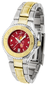 Arizona State Sun Devils Competitor Anochrome Dial Two Tone Band Watch - Ladies