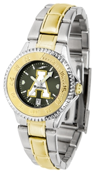 Appalachian State Mountaineers Competitor Anochrome Dial Two Tone Band Watch - Ladies