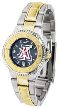 Arizona Wildcats Competitor Anochrome Dial Two Tone Band Watch - Ladies