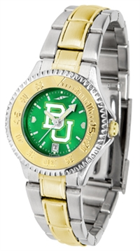 Baylor Bears Competitor Anochrome Dial Two Tone Band Watch - Ladies