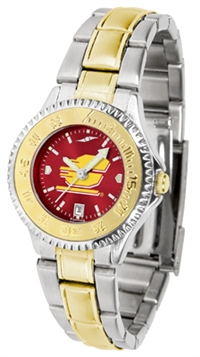 Central Michigan (CMU) Chippewas Competitor Anochrome Dial Two Tone Band Watch - Ladies