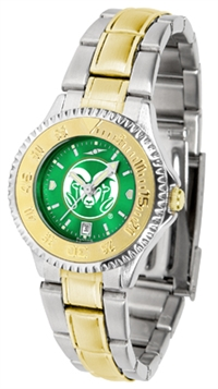 Colorado State Rams Competitor Anochrome Dial Two Tone Band Watch - Ladies