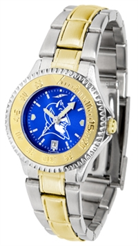 Duke Blue Devils Competitor Anochrome Dial Two Tone Band Watch - Ladies