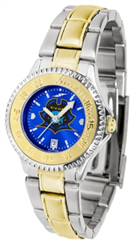East Tennessee State (ETSU) Buccaneers Competitor Anochrome Dial Two Tone Band Watch - Ladies