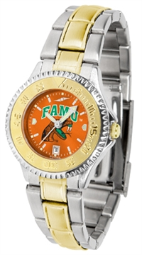 Florida A&M Rattlers Competitor Anochrome Dial Two Tone Band Watch - Ladies