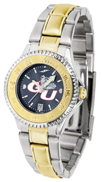 Gonzaga Bulldogs Competitor Anochrome Dial Two Tone Band Watch - Ladies