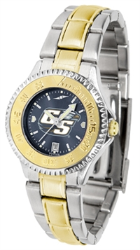 Georgia Southern (GSU) Eagles Competitor Anochrome Dial Two Tone Band Watch - Ladies