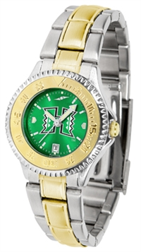 Hawaii Warriors Competitor Anochrome Dial Two Tone Band Watch - Ladies