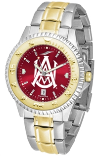 Alabama A&M Bulldogs Competitor Anochrome Dial Two Tone Band Watch