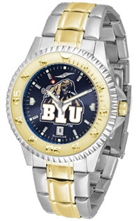 Brigham Young Cougars (BYU)  Competitor Anochrome Dial Two Tone Band Watch