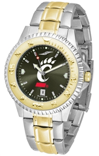 Cincinnati Bearcats Competitor Anochrome Dial Two Tone Band Watch
