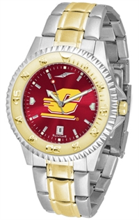 Central Michigan (CMU) Chippewas Competitor Anochrome Dial Two Tone Band Watch