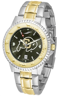 Colorado Buffaloes Competitor Anochrome Dial Two Tone Band Watch