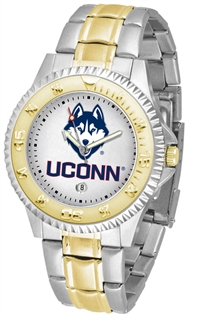 Connecticut Huskies Competitor Anochrome Dial Two Tone Band Watch