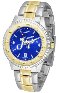 Creighton Blue Jays Competitor Anochrome Dial Two Tone Band Watch