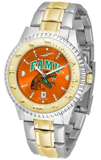 Florida A&M Rattlers Competitor Anochrome Dial Two Tone Band Watch