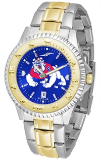 Fresno State Bulldogs Competitor Anochrome Dial Two Tone Band Watch