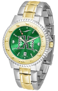 Hawaii Warriors Competitor Anochrome Dial Two Tone Band Watch