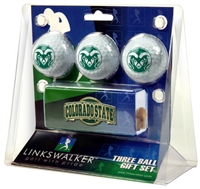 Colorado State Rams Slider Hat Clip 3 Ball Gift Pack