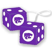 Kansas State Wildcats NCAA 3 Car Fuzzy Dice""