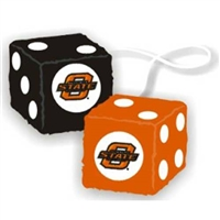 Oklahoma State Cowboys NCAA 3 Car Fuzzy Dice""