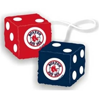 Boston Red Sox MLB 3 Car Fuzzy Dice""