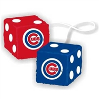 Chicago Cubs MLB 3 Car Fuzzy Dice""