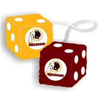 Washington Redskins NFL 3 Car Fuzzy Dice""