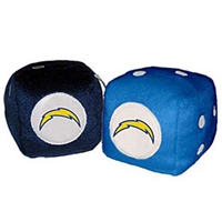San Diego Chargers NFL 3 Car Fuzzy Dice""