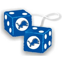 Detroit Lions NFL 3 Car Fuzzy Dice""