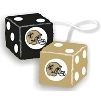 New Orleans Saints NFL 3 Car Fuzzy Dice""