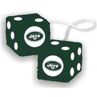 New York Jets NFL 3 Car Fuzzy Dice""