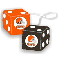 Cleveland Browns NFL 3 Car Fuzzy Dice""