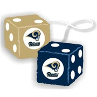 St. Louis Rams NFL 3 Car Fuzzy Dice""