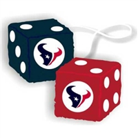 Houston Texans NFL 3 Car Fuzzy Dice""