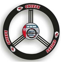 Kansas City Chiefs NFL Leather Steering Wheel Cover