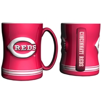 Cincinnati Reds MLB Coffee Mug - 15oz Sculpted (Single Mug)