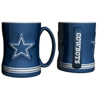 Dallas Cowboys NFL Coffee Mug - 15oz Sculpted (Single Mug)