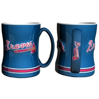 Atlanta Braves MLB Coffee Mug - 15oz Sculpted (Single Mug)