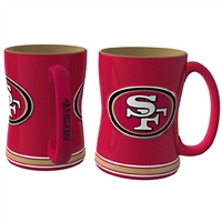 San Francisco 49ers NFL Coffee Mug - 15oz Sculpted (Single Mug)