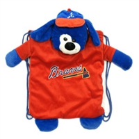 Atlanta Braves MLB Plush Mascot Backpack Pal