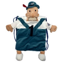 Milwaukee Brewers MLB Plush Mascot Backpack Pal - Bratwurst