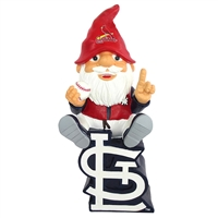 St. Louis Cardinals MLB Gnome On Team Logo