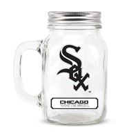 Chicago White Sox MLB Mason Jar Glass With Lid